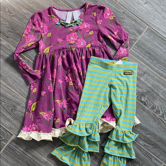 Girls Matilda Jane two-piece dress ruffle set 6